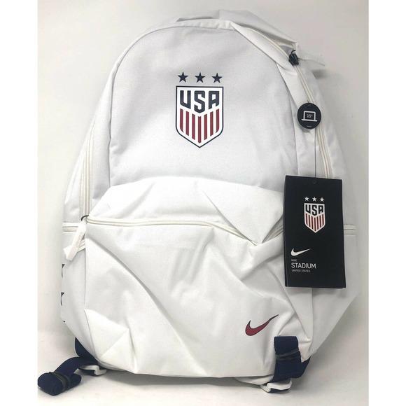 Nike Team USA Stadium Soccer Backpack White